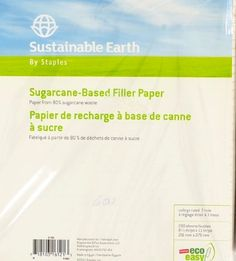 """Office 1200 STAPLES Filler Paper 8.5"""" x 11"""" College Ruled 6 x 200 Sheets 21700 #STAPLES"""