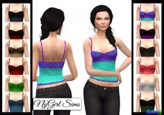 Lace Overlay Tank at NyGirl Sims via Sims 4 Updates