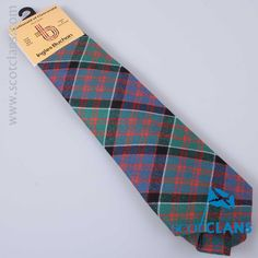 Pure wool tie in MacDonald of Clanranald ancient tartan - from ScotClans