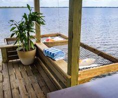 hammock over water