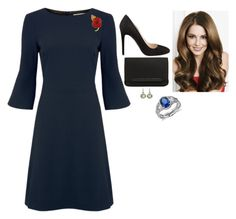 """""""Atteding a Reception for Injured Veterans at Buckingham Palace"""" by fashion-royalty ❤ liked on Polyvore featuring Prada, Christian Louboutin and Blue Nile"""