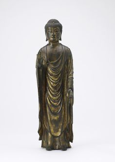 Amitabha Buddha (Amida), the Buddha of Infinite Light 13th century Kamakura period Gilt bronze Japan