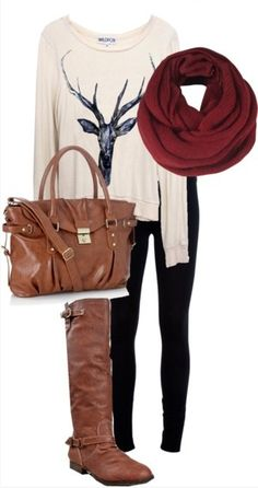 Comfy but stylish outfit.