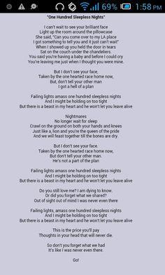 One Hundred Sleepless Nights lyrics