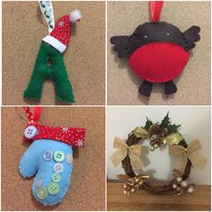 A few felt Xmas pieces I've made over the last couple of days!
