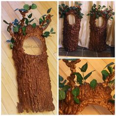 This technically isn't a PaperCuts customer but it was such a cool project I had to show it. Little Miss PaperCuts school asked if I could . Foam Crafts, Diy And Crafts, Enchanted Forest Book, Tree Costume, Spray Foam, Stage Set, Camping Theme, Party Props, Tree Crafts