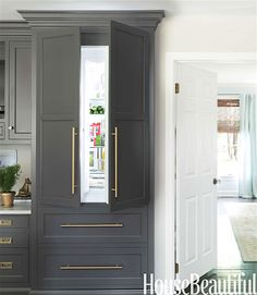 Really like this #fridge behind cabinet doors. Classy! Do You Know What KBIS Stands For? - laurel home (scheduled via http://www.tailwindapp.com?utm_source=pinterest&utm_medium=twpin&utm_content=post133655119&utm_campaign=scheduler_attribution)