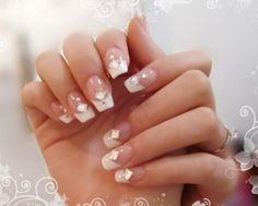 Classic French white nail