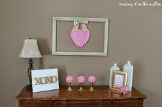 Pink and Gold Valentine's Vignette