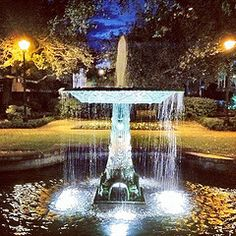 Columbia Square, Savannah. There are 21 of thee squares all together, not including the parks