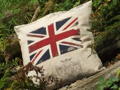 UNION JACK cushion cover  pillow cover pillow by EllieBdesigns, $18.00