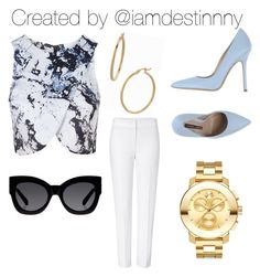 """""""Classy but casual at the same time """" by iamdestinnny on Polyvore featuring Topshop, ESCADA, Norma J.Baker, Karen Walker, Movado and Bony Levy"""