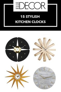 15 Kitchen Clocks To Banish A Blank Wall... Or Improve Your Cooking - ELLEDecor.com