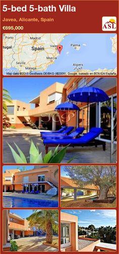 5-bed 5-bath Villa in Javea, Alicante, Spain ►€695,000 #PropertyForSaleInSpain