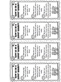 Free super reader bookmarks - great for a Family Literacy Night or to send home to parents at Parent Conferences or Parent Night! Buzzing with Ms. B: Super Family Literacy Night: Superhero Themed Reading Events! *Freebie!