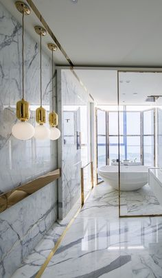 gold and white and marble