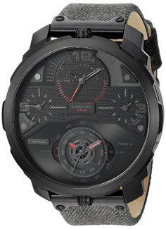 ecfa13431ec Diesel Men s DZ7358 Machinus Black Ip Denim Watch  Clothing Relógio De Couro  Marrom