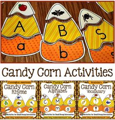 Fun fall-themed activities for learning early literacy skills.