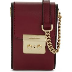 Michael Michael Kors Scout leather cross-body for iphone 6 (10.810 RUB) ❤ liked on Polyvore featuring accessories, tech accessories, michael michael kors and camera bag