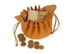 Traditioneller Geldbeutel gross, natur - Art-of-Crafts