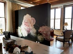 "new Thomas Darnell install at the talented PR group Roepke  ""Peonies Pink"""
