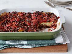 Black Bean Lasagna Recipe : Trisha Yearwood : Food Network w/ tofu ricotta! Black Bean Lasagna Recipe, Vegetarian Recipes, Cooking Recipes, Healthy Recipes, Lasagna Recipes, Vegetarian Dish, Kitchen Recipes, Food Network Recipes, Food Processor Recipes