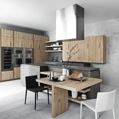 Küchen Eichen Holz Küche Design Cesar Eleganz