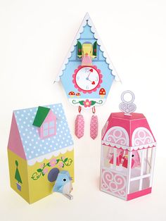 Cuckoo Clock Bird House and Bird Cage Printable by FantasticToys