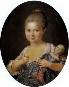 Charles Lepeintre, Portrait of a Little Girl With Her Doll, 18th century