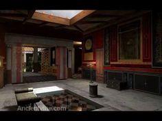 Roman House - House of the Vine  Reconstrución en 3d dunha Domus romana