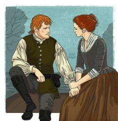 Claire Fraser, Jamie Fraser, Jamie And Claire, Outlander Show, Outlander Season 4, Outlander Fan Art, Saga, Fangirl, Estilo Disney