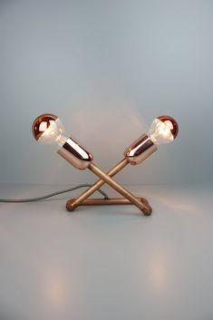 Lampe NF-129 Pvc Furniture, Furniture Design, Lamp Design, Lighting Design, Diy Lampe, Lamp Inspiration, Retro Lamp, Copper Tubing, Pipe Lamp