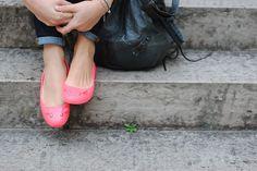 Blouse H&m, Balenciaga, Zara, Scarlett, Baskets, Skinny, Ballerina Flats, Moccasins, Jelly