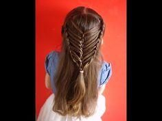 Easy Hairstyles For Girls Fascinating Peinado Fácil Para Niña  Easy Hairstyle For Girl ❤  Peinado Para