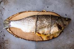 Cedar Plank Grilled Loup De Mer (Sea Bass).