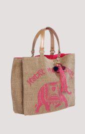Star Mela - HATHIE Henkeltasche aus Baumwolle mit Print