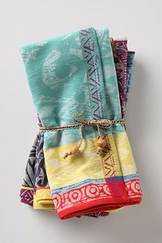 I love the colors in these tea towels