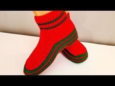Cum tricotam botoși de casă Corina - tutorial pas cu pas - YouTube 8 Martie, Crochet, Socks, Supe, Knitting, Youtube, Fashion, Knitted Baby, Slipper
