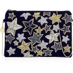 From St Xavier Dea Star Embellished Clutch Bag- Black (365 PEN) ❤ liked on Polyvore featuring bags, handbags, clutches, hand bags, evening hand bags, velvet clutches, evening handbags and velvet handbag