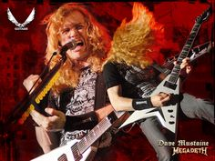 Here is 'the man.'  Dave Mustaine.  Without this fellow, I'm almost sure we'd never have Metallica to gush over.  Fret not, this super strummer splintered off so we get the best of two metal worlds.  Megadeth will always be one of my favorite bands.  I'll rock this stuff in the old folks home.
