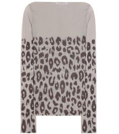 Acne Studios - Kalika leopard-printed top - If you're looking for a new way to layer your looks in the new season, Acne Studios' Kalika top is the answer. The sheer grey design is printed with a leopard motif for a wildly cool look, while the long-sleeved silhouette and second-skin fit makes it ideal for wearing under anything and everything. We'll be styling ours under a satin slip dress for a contemporary, feminine twist. seen @ www.mytheresa.com