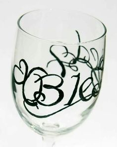 Blessed all beautifully wrapped around wine glass. On the bottom of the glass is the verse Matt 5:8 which i will pin a pic of as well. I would love for you to visit my etsy shop https://www.etsy.com/shop/Wine2Treasures.