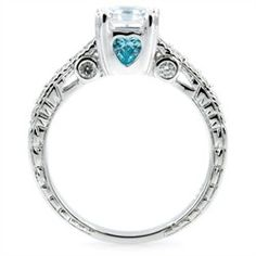 aqua stone wedding rings - Google Search