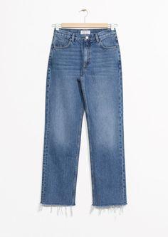 d0f5f519b835c Other Stories | Raw Edge Denim Jeans in Blue Niebieskie Dżinsy, Denim Jeans,
