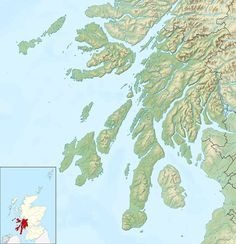 Argyll and Bute UK relief location map - Danna, Scotland - Wikipedia, the free encyclopedia