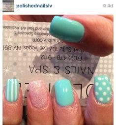 Mint nails. Nails designs. Las Vegas nails