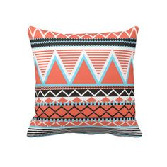 Coral Tribal Pillow