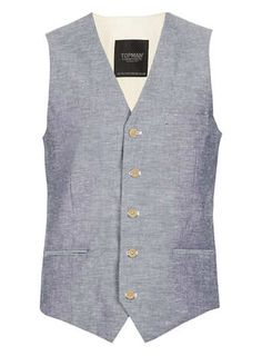 Grey Oxford Fleck Vest. LOVE ME SOME VESTS
