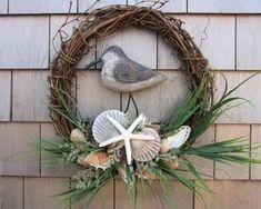 Find Everything in Coastal Decor, Beach Decor, Nautical Decor, Seashell Decor Coastal Wreath, Nautical Wreath, Seashell Wreath, Seashell Crafts, Coastal Decor, Nautical Gifts, Beach Wreaths, Wreaths For Front Door, Door Wreaths