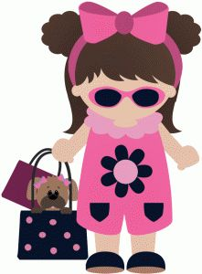 Silhouette Design Store - View Design #45096: born to shop girl carrying dog